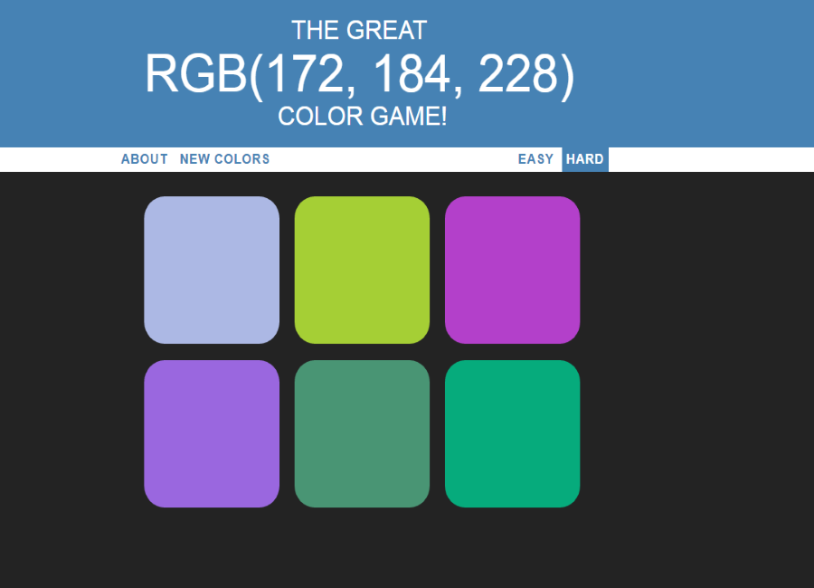 JS Color Game